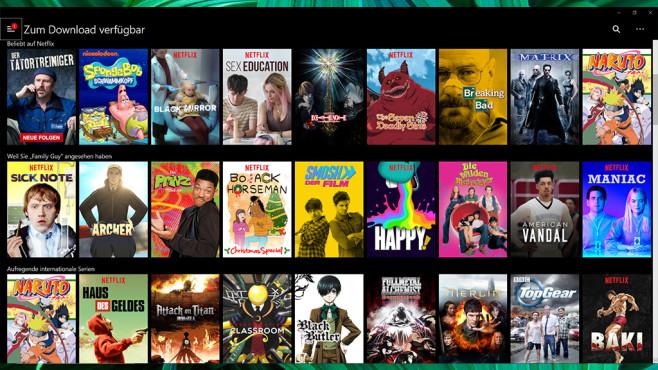 Netflix: Serien und Filme schauen ©COMPUTER BILD, Netflix