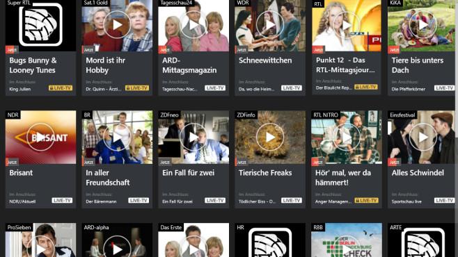 TV App Live Fernsehen: Medieninhalte am PC ansehen ©COMPUTER BILD