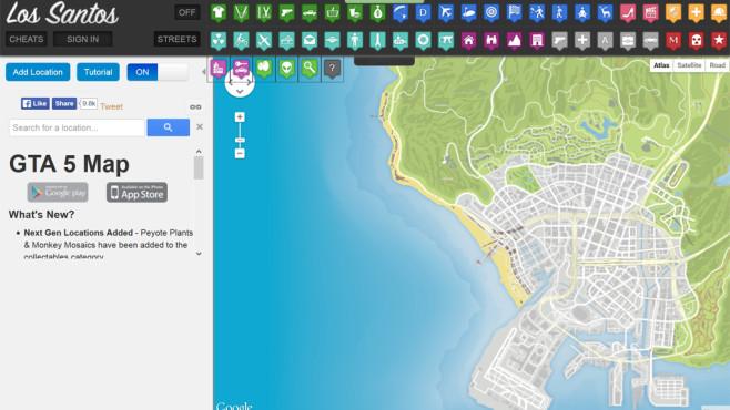 GTA 5: Interaktive Karte©The_Mighty_Tspoon/Goolge Maps