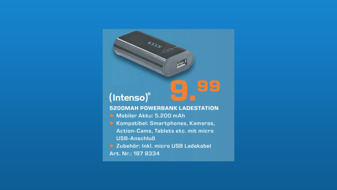 Intenso Powerbank 5200 mAh © Saturn