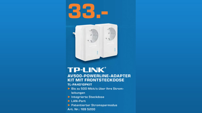 TP-Link AV500-Powerline-Adapter-Kit © Saturn