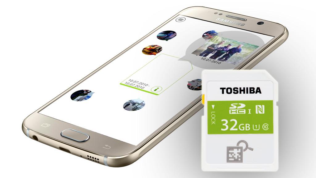 Toshiba NFC SDHC©samsung, Toshiba, COMPUTER BILD