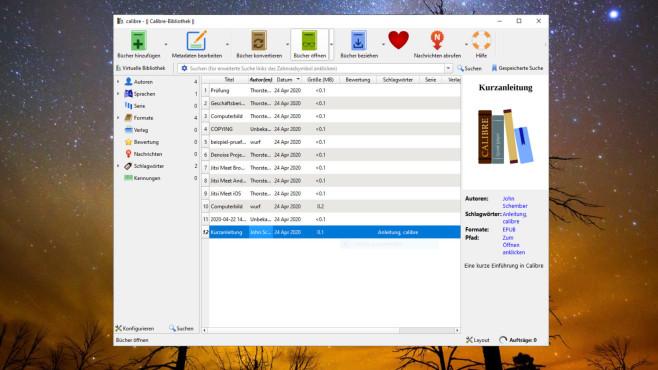 Calibre: eBooks öffnen und konvertieren ©COMPUTER BILD