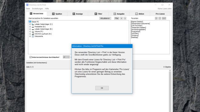 Directory List & Print: Dateilisten erstellen ©COMPUTER BILD
