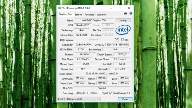 GPU-Z: Grafikkarten-Details ermitteln ©COMPUTER BILD