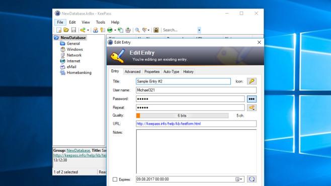 KeePass: Passwörter wegschließen ©COMPUTER BILD