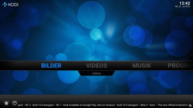 Kodi: Verwaltungszentrale für Multimedia-Dateien ©COMPUTER BILD