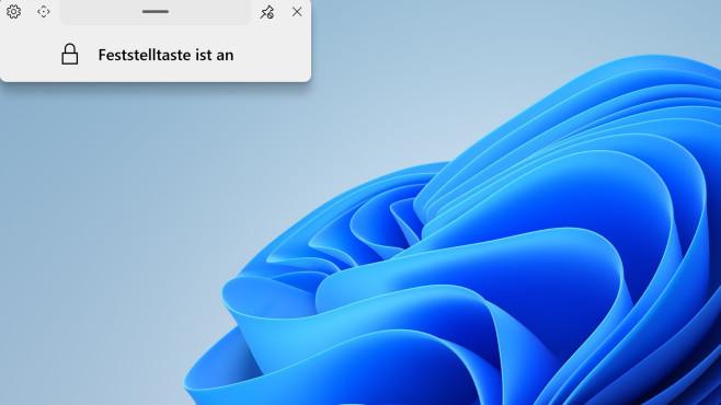 ModernFlyouts (Windows-10-App): Feststelltaste & Co. gezielt nutzen ©COMPUTER BILD