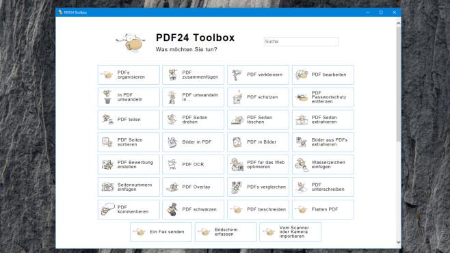 PDF24 Creator: PDFs erstellen, komprimieren und mehr ©COMPUTER BILD