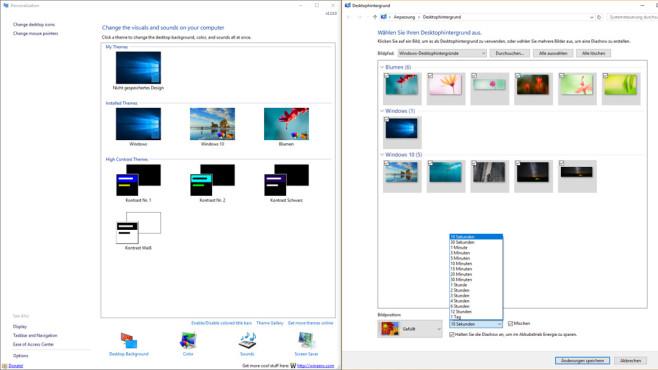 Personalization Panel for Windows 10: Desktop-Hintergründe besser tauschen ©COMPUTER BILD