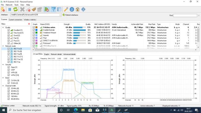 Wi-Fi Scanner: WLAN-Netzwerke verwalten ©COMPUTER BILD