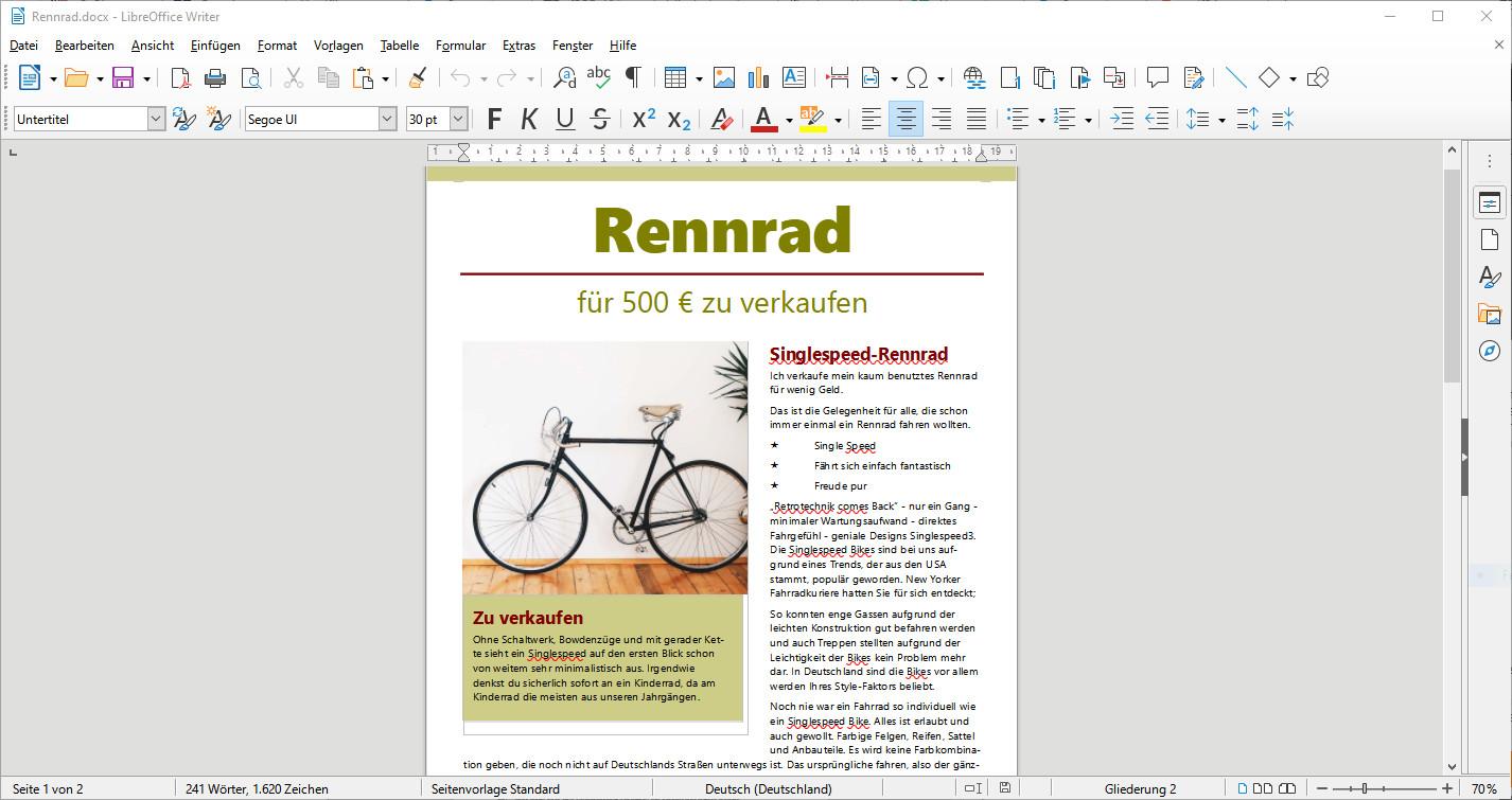Screenshot 1 - LibreOffice (64 Bit)