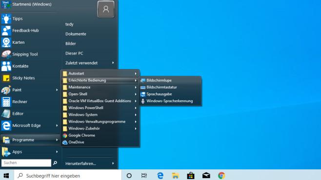 Open Shell Menu (15): Richtig konfigurieren und nutzen ©COMPUTER BILD