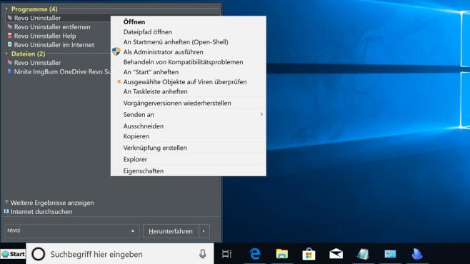 Open Shell Menu (18): Richtig konfigurieren und nutzen ©COMPUTER BILD