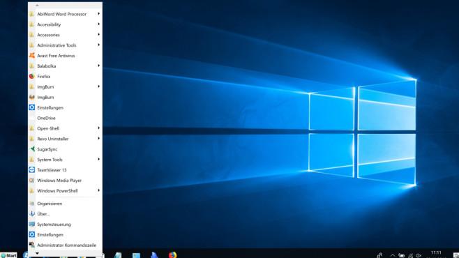 Spencer: Classic Windows XP Start Menu für Windows 8 & 10 (1) ©COMPUTER BILD