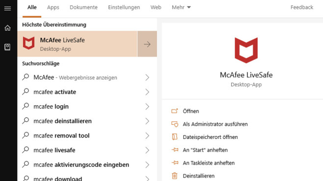 Windows 10 1809: Startmenü-Kontextmenü ohne rechte Maustaste ©COMPUTER BILD