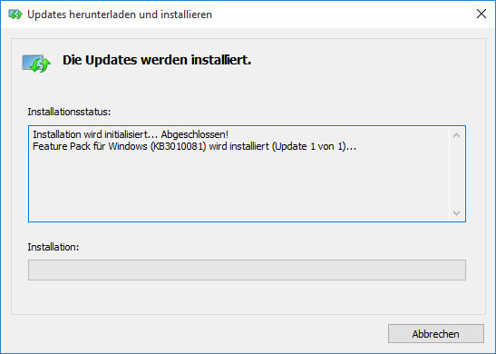 Screenshot 1 - Media Feature Pack für Windows 10 N