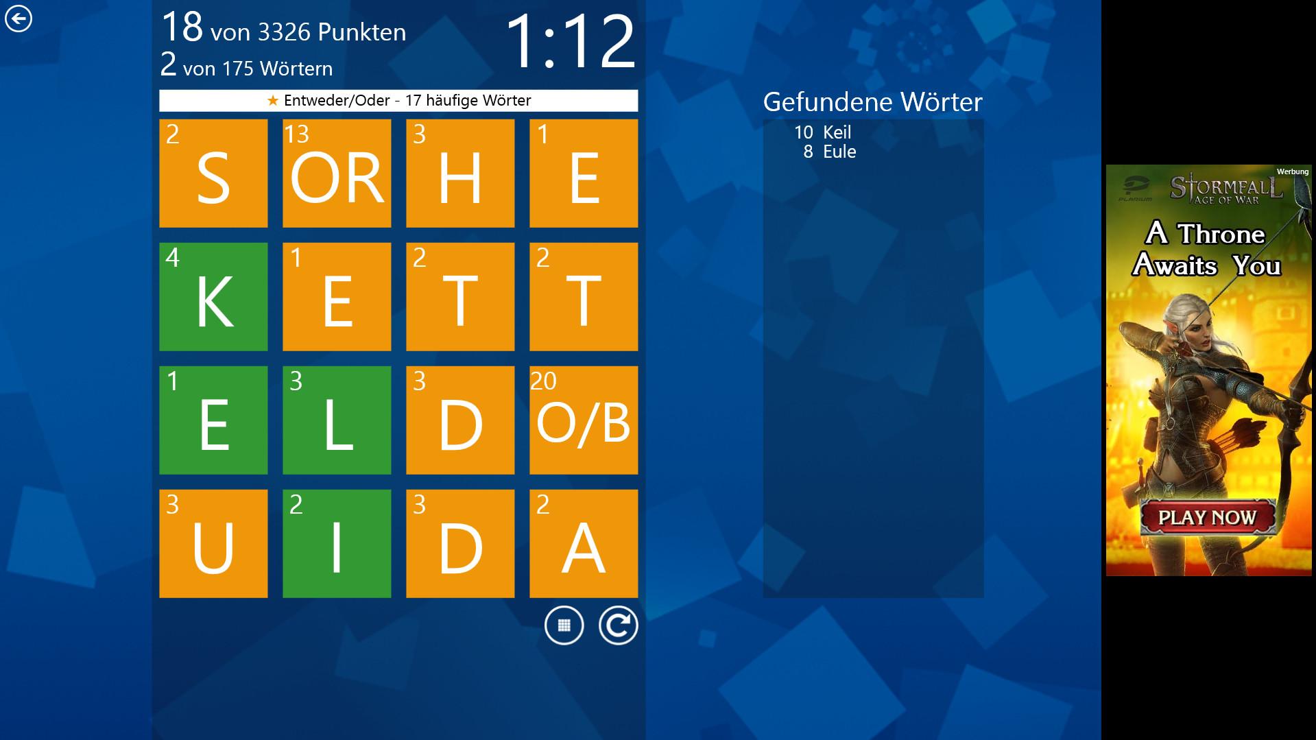 Screenshot 1 - Wordament (Windows-10-App)