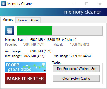 Screenshot 1 - Memory Cleaner