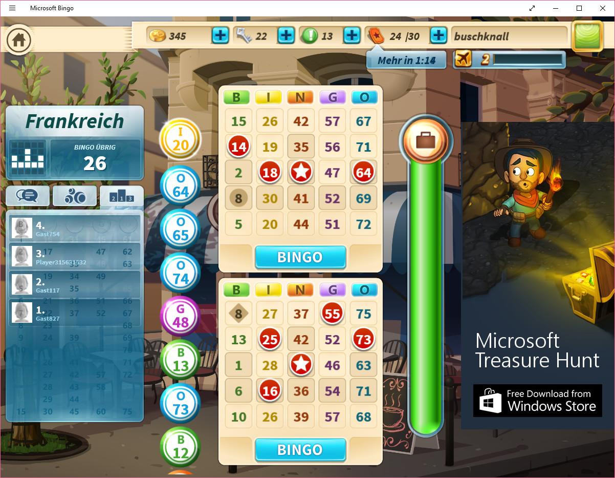 Screenshot 1 - Microsoft Bingo (Windows-10-App)
