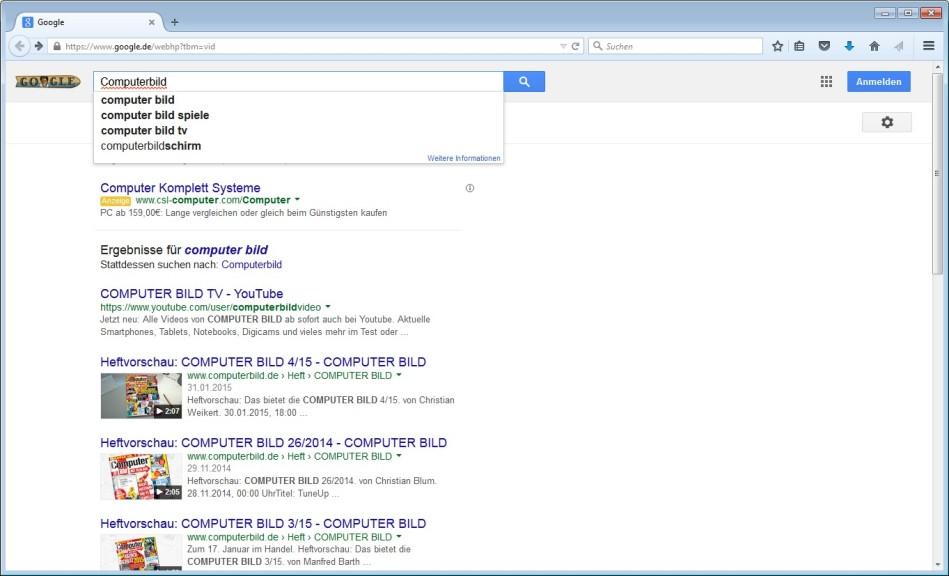 Screenshot 1 - Google Videos