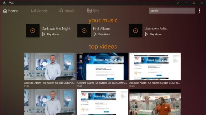 Platz 46: VLC Media Player (App für Windows 10 & 8, neu) ©COMPUTER BILD