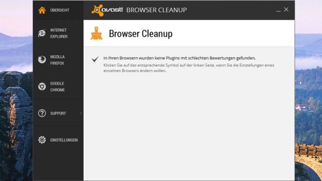 Platz 49: Avast Browser Cleanup 2015 (Vormonat: Platz 29) ©COMPUTER BILD