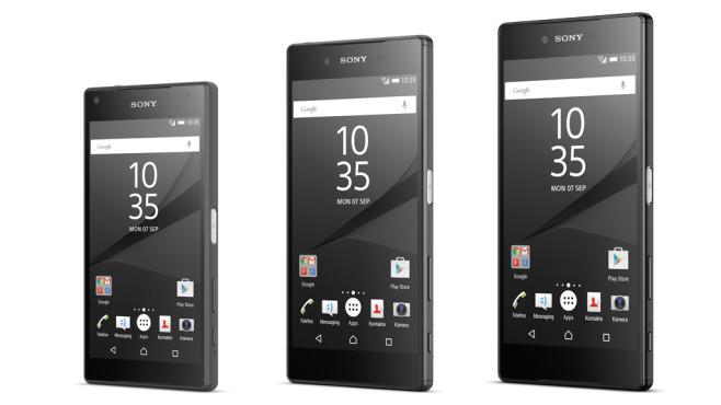 Sony Xperia Z5 Compact, Xperia Z5, Xperia Z5 Premium©COMPUTER BILD