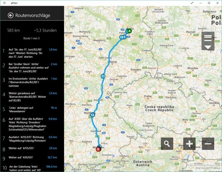 gMaps (Google Maps, App für Windows 10 & 8) 2.1.1 - Download ... on