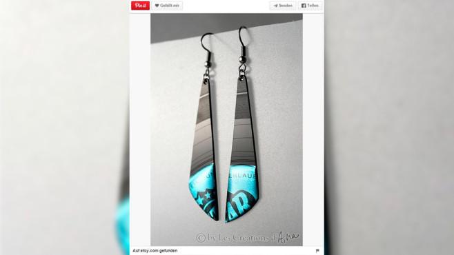 Ohrringe aus Schallplatten©Screenshot: Pinterrest