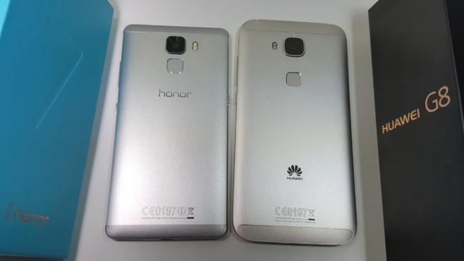Honor 7 vs Huawei G8©COMPUTER BILD