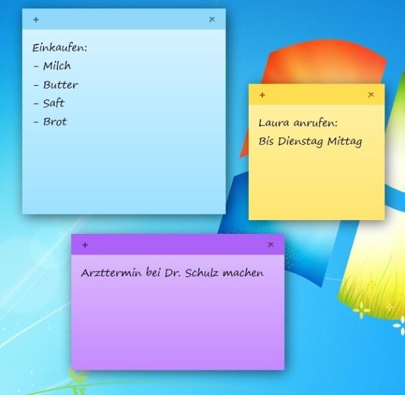 Screenshot 1 - Sticky Notes
