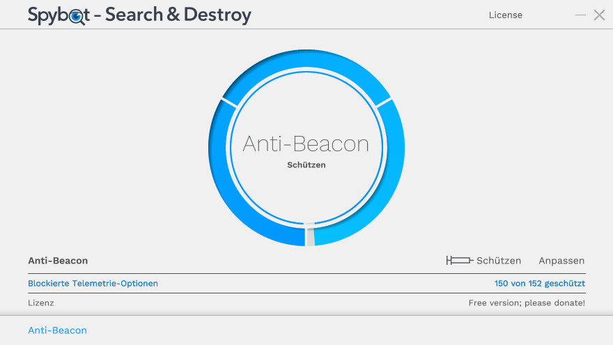 Screenshot 1 - Spybot Anti-Beacon
