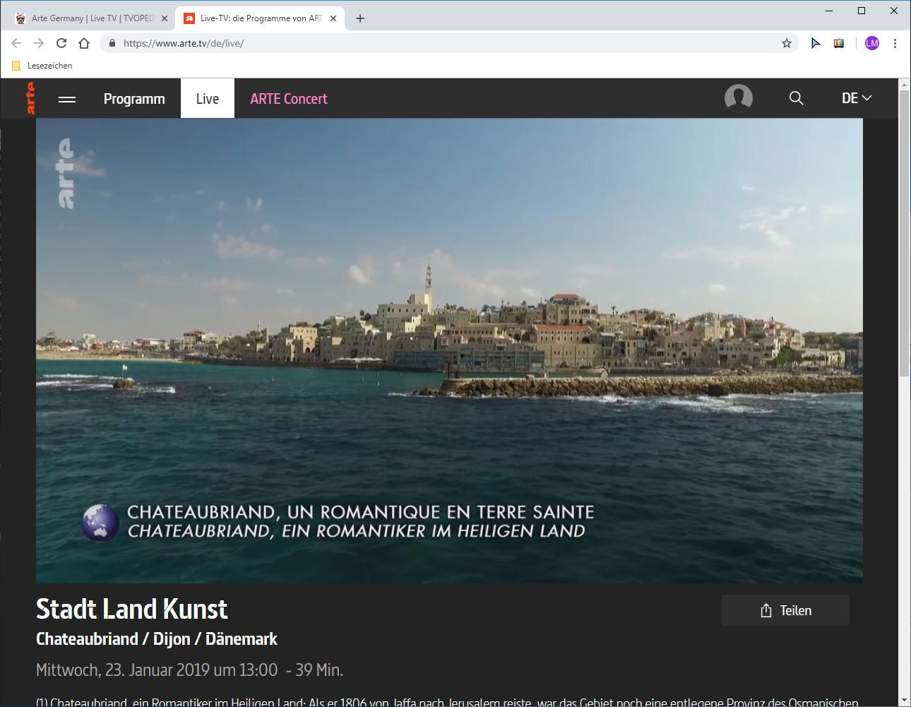 Screenshot 1 - TV für Google Chrome
