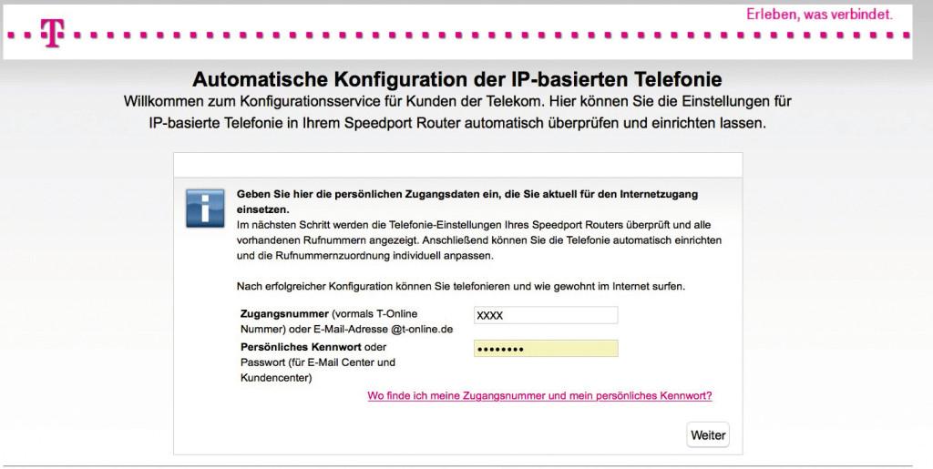 Telekom Speedport Router Anschluss Einrichten Bilder Screenshots
