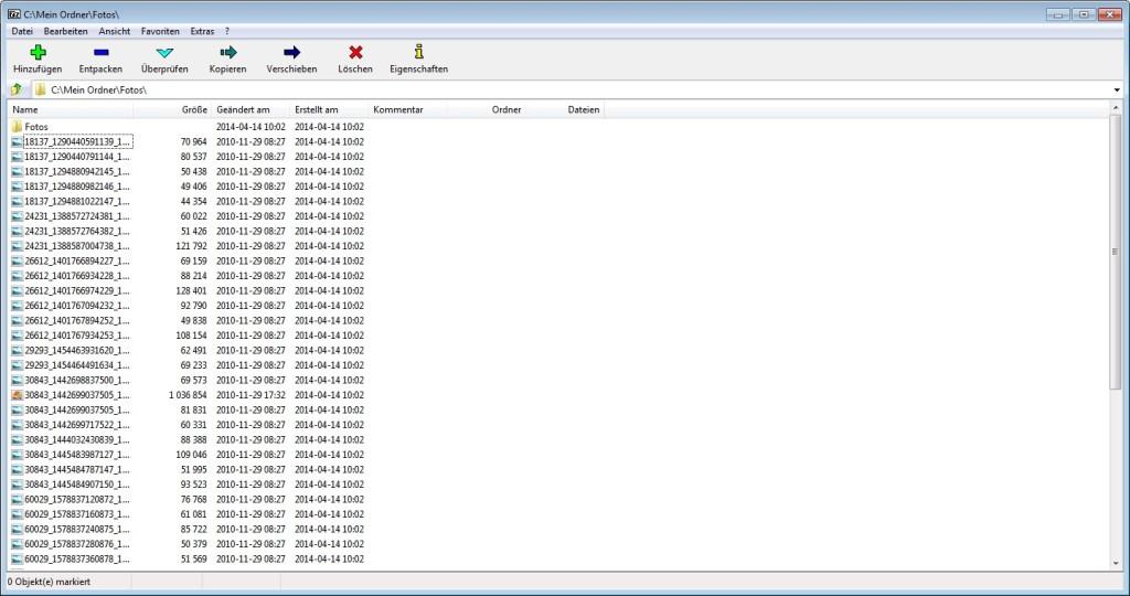 Screenshot 1 - Easy 7-Zip