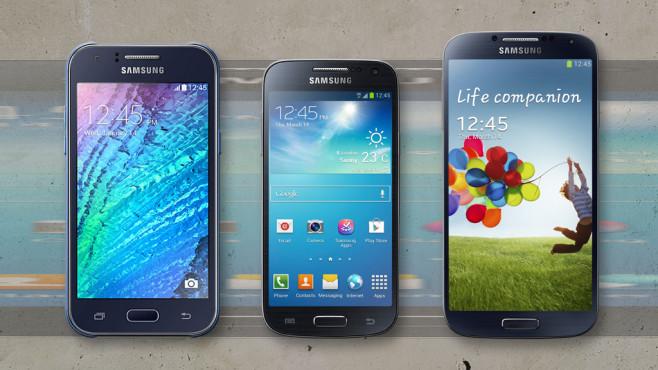 Samsung Galaxy J1, Galaxy S4 Mini, Galaxy S4©Samsung, COMPUTER BILD