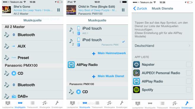 Panasonic Music Streaming App©COMPUTER BILD