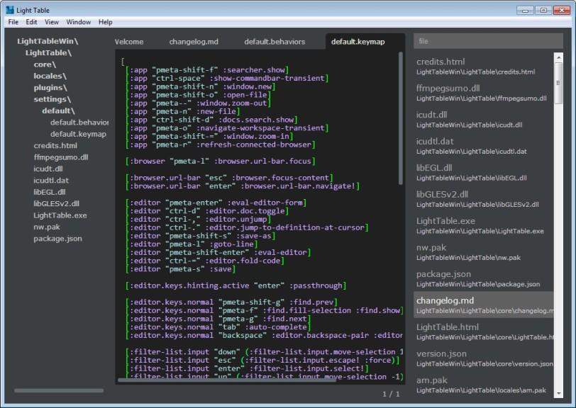 Screenshot 1 - Light Table