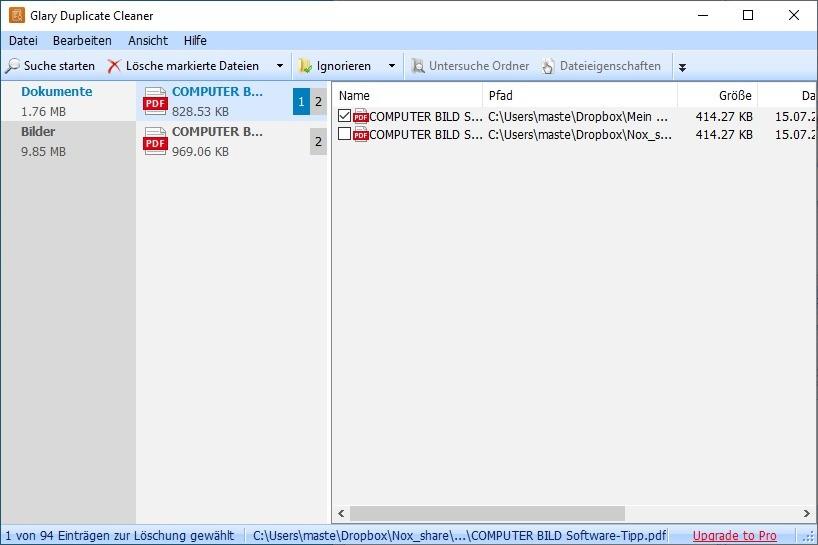 Screenshot 1 - Glary Duplicate Cleaner