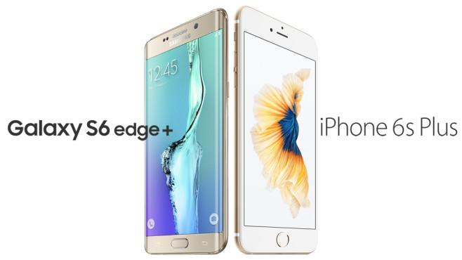 Samsung Galaxy S6 Edge+/Apple iPhone 6S Plus©Samsung/Apple