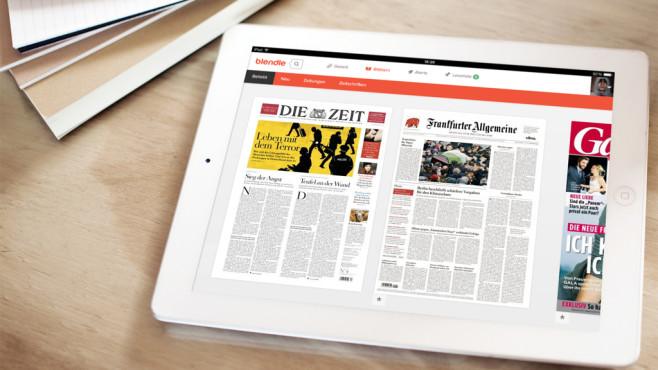 Blendle auf dem iPad©Blendle