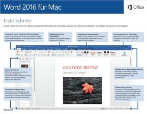Microsoft Office 2016 (Schnellstart-Handbuch als PDF) (Mac)