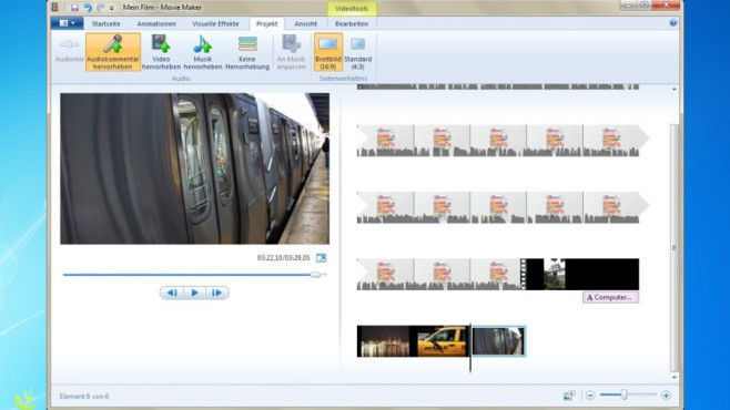 Windows Movie Maker: Eindrücke zu Video zusammenpacken © COMPUTER BILD