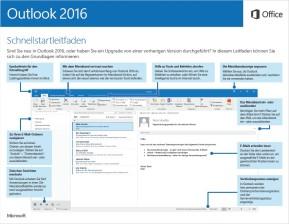 Microsoft Outlook 2016 (Schnellstart-Anleitung als PDF)