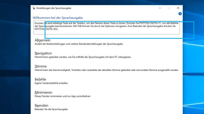 Strg + Windows + Enter: Sprachausgabe aufrufen ©COMPUTER BILD