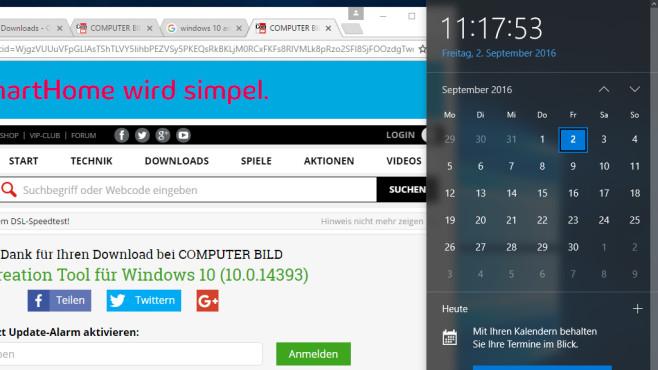 Windows + Alt + D ©COMPUTER BILD