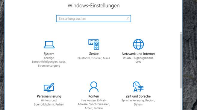 Windows + I: Einstellungen-App aufrufen ©COMPUTER BILD