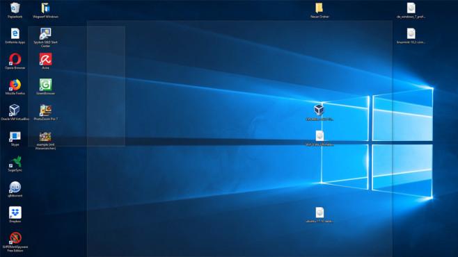 Windows + Komma: Aero-Peek-Ansicht aktivieren ©COMPUTER BILD