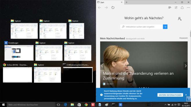 Windows + Rechts-Pfeil: Fenster nach rechts verschieben ©COMPUTER BILD